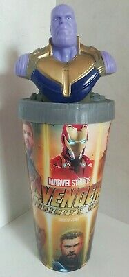 Avengers Infinity War Peru Movie Theater Cup + Topper, Thanos Marvel 2018