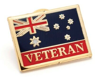 Alway Army Veteran Flag Of Service Lapel Pin *Remembrance Day * ANZAC Day*NEW