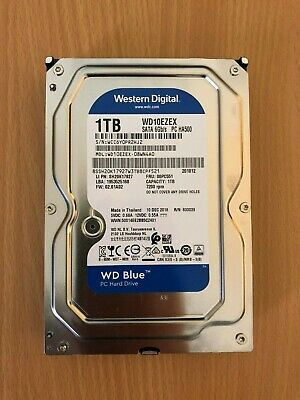 "Western Digital WD Blue 1 TB, Internal, 7200 RPM, 3.5"" (WD10EZEX) HDD"