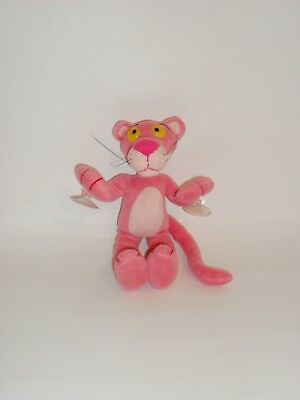 Peluche Pupazzo Vintage Pantera Rosa Con Ventose Pink Panter Toy 2001 24 Cm.