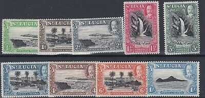 St Lucia  1936  S G 113 - 121  Various Values  To 1/-  Mh