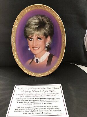 Vintage,princess Diana With Certificate Of Recognition