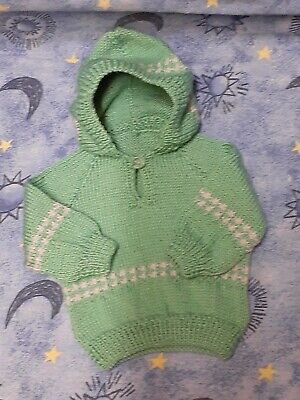 Hand knitted hoody. 2 colours to choose from.