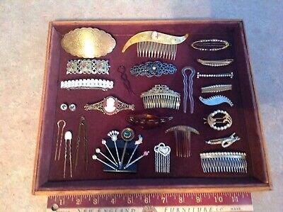 Great Antique & Vintage Lot Of Hair Combs, Barrettes, Hair Pins, Bobby Pins.