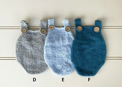 Newborn Hand Knitted Romper - Photography Photo Prop