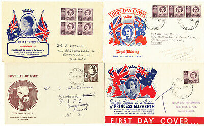 Australia First Day Covers 56 Copies (1947-1959)