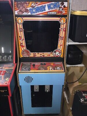 Vintage 1981 Nintendo Original Donkey Kong Arcade Game Machine Working Gaming