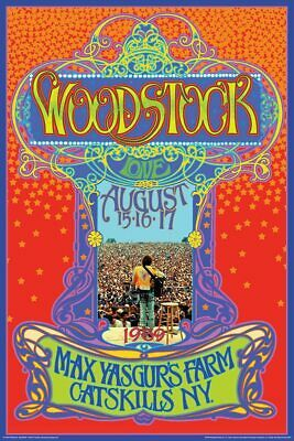 WOODSTOCK MAX YASGUR'S FARM CONCERT Silk Poster Wall Decor Painting 24X36Inch