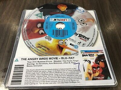 The Angry Birds Movie (Blu-ray, 2016) DISC ONLY