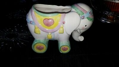 Ceramic Elephant .......craft Project Or Nursery planter etc
