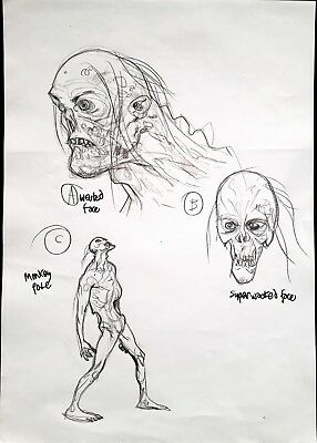 Glenn Fabry Monsters Studio Model Sheet Big Size Design Original Originale