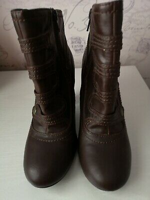Ladies Brown Boots Size 4 From BARRATTS