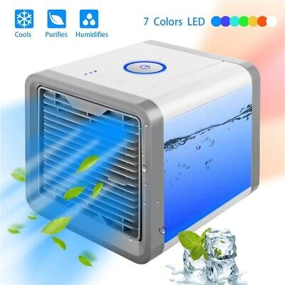 Portable Mini Air Conditioner Cool Cooling For Bedroom Artic Cooler Fan 7 LED