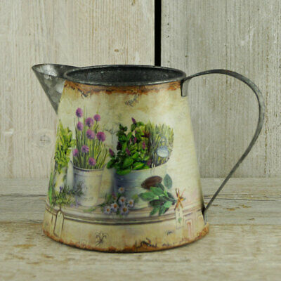 flower vases with herb garden design great gift Pair of straight zinc jugs