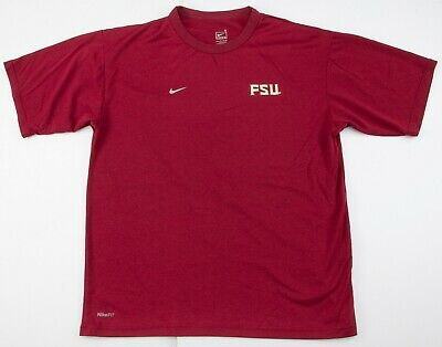 9c195773 Nike Dri Fit Florida State Seminoles FSU Polyester T Shirt Mens Small NCAA  EUC