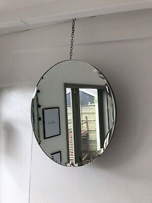 Vintage Frameless Round Mirror Lovely Mirror Art Deco Round Scalloped Mirror