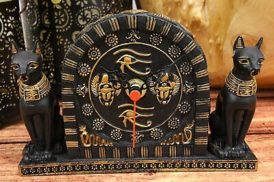 "Ebros Ancient Egyptian Bastet Table Clock Statue 6.75"" Long Gods of Egypt"