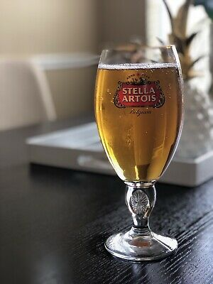 NIB Stella Artois Chalice 50 CL Set 6 Six PUB XL Beer Glasses