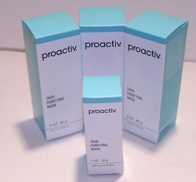 lot of 3 proactiv skin purifying masks 3oz. free 1oz mask with purchase new-seal