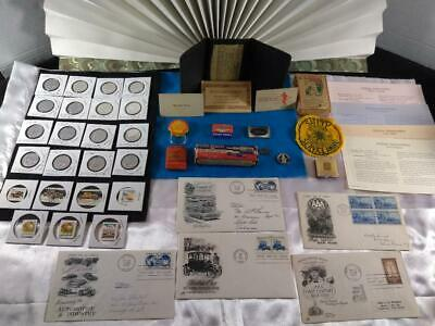Junk Drawer LOT Vintage Auto, Gold filled, Genuine Diamonds, Shell Oil COOL Stuf