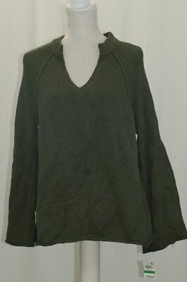 Style and Co Woman/'s Sweater Petite Mock Neck Cable Knit Dark Ivy Green $49.50