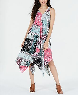 Style Co Petite Printed Scarf-Dress Playful Patch Pxl