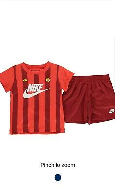 Nike Infant Boys Girls Sports Tracksuit Kids Children Set Red Age 18 months New.