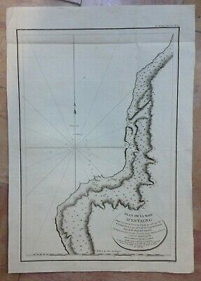 Russia Sakhalin Bay Of Estaing 1797 La Perouse Large Antique Engraved Sea Chart