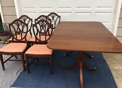 Awesome Duncan Phyfe Style Dining Set And China Cabinet 2 295 00 Home Interior And Landscaping Ologienasavecom
