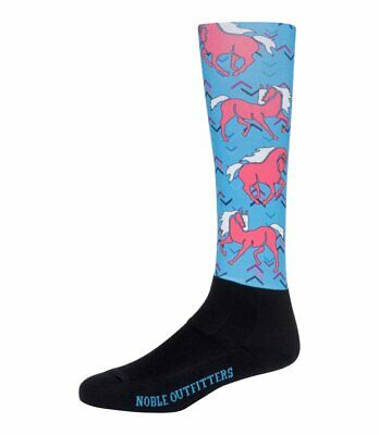 Noble Equestrian Over the Calf Peddies-Women's Prints-Pony in Pink