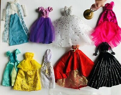Lot Of Doll Clothes Barbie Glam Fancy Fashion Evening Gown Dress