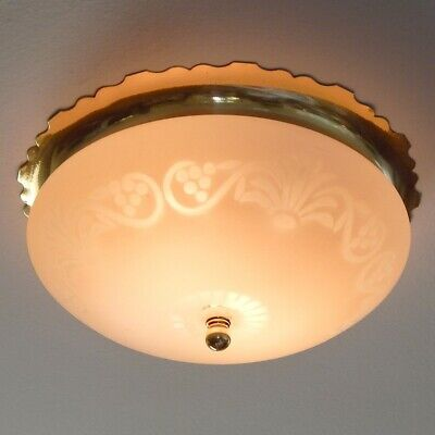 Vintage Solid Brass Flush Mount Ceiling Light Fixture
