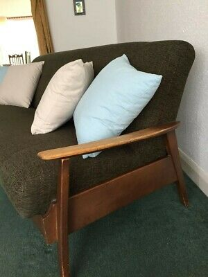 Vintage mid 1960s 60s studio couch sofa & matching chair