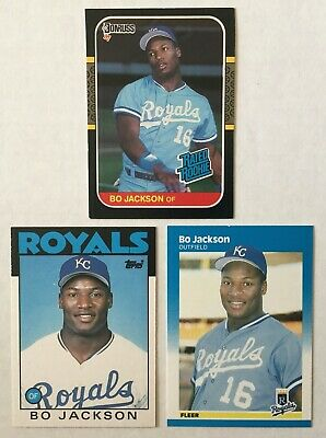 1987 Topps Baseball Bo Jackson Rookie Card Lot Of 4 Rookie