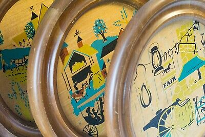 MCM Country Fair Wall Art, Retro Kitchen, 1960s Wall Hanging, Atomic Graphics