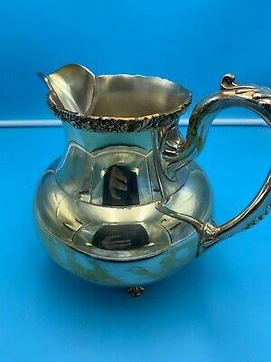 Vintage Wilcox International Silver Co. Water Pitcher 1317 New Beverly Manor