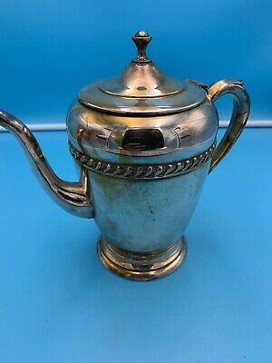 "Vintage Silver Plate Coffee Urn Serving Pitcher 7"" X 7"" About 9"" W/ Handle"