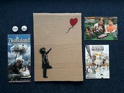 Banksy Dismaland Art un signed Numbered + Map + Souvenirs