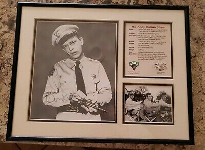 Don Knotts Signed Autographed B/W Andy Griffith Show Photo w/ COA Framed 11x14