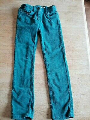 Girls jeans trousers vertbaudet Cord Jeans. Age 7 Years turquoiseblue/green