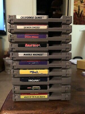 Nintendo Nes Games Lot of 10 games  *Cleaned And Tested* Super Mario 3 TNMT