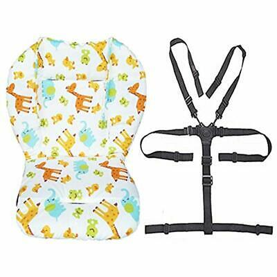 Baby Stroller/High Chair Seat Cushion Liner Mat Pad Cover Resistant And Straps 1