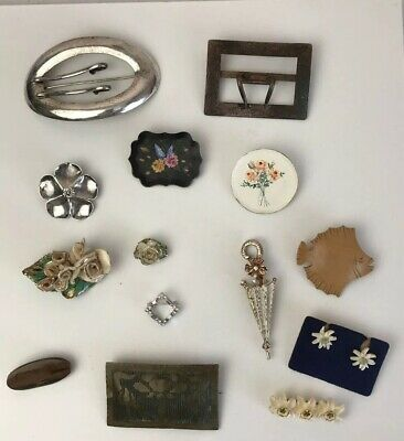 Lot of Antique Vintage Mid Century Modern Style Costume Jewelry Pins & More
