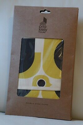 ORLA KIELY Hen Chicken Double Oven Glove - Yellow