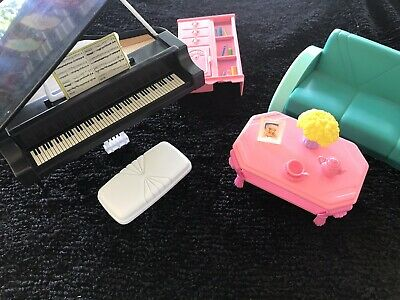 Vintage Barbie Living Room Set And Piano