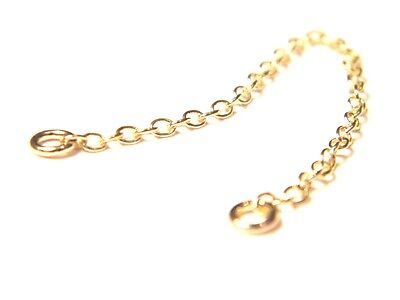9ct Yellow Gold Safety /Extension Chain-6.5cm Bracelet-Necklace-Watches