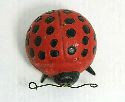 """Hand Painted Unique Metal Art """"Lady Bug"""" Paperweight or Garden Decorative Item"""