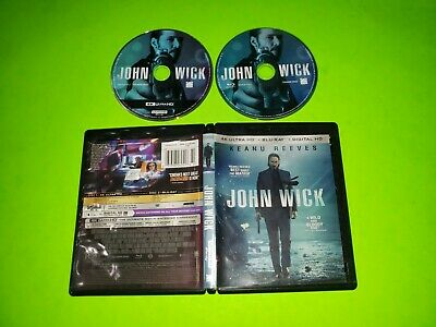 John Wick Chapter 1 4K Ultra HD w Blu Ray 2 Disc Set VERY GOOD Keanu Reeves