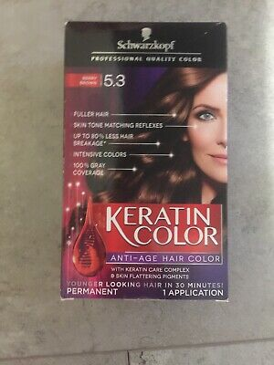 d0279f8638 Schwarzkopf Keratin Color Anti-Age Hair Color Cream 5.3 Berry Brown