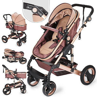 2 in 1 Baby Stroller Buggy Kids Pram Pushchair Foldable Carriage Shake-Proof